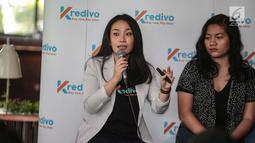 Head of Marketing Kredivo Indina Andamari memberi keterangan saat peluncuran Kredivo produk pinjaman tunai di Jakarta, Selasa (4/12). PT FinAccel Teknologi Indonesia (Kredivo) meluncurkan produk pinjaman tunai (personal loan). (Liputan6.com/Faizal Fanani)