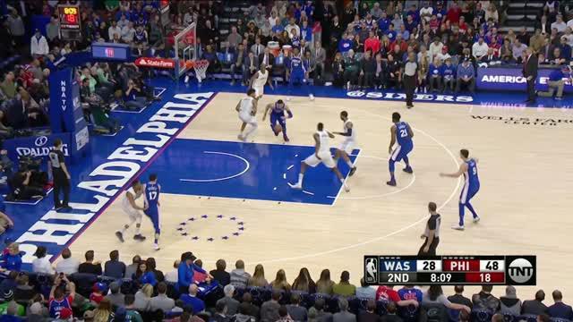 Berita video game recap NBA 2017-2018 antara Philadelphia 76ers melawan Washiington Wizards dengan skor 115-102.