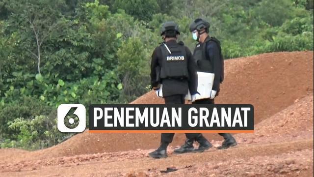 Tim Gegana Brimob Polda Kepulauan Riau meledakkan delapan granat aktif di Pulau Dompak, Tanjung Pinang, Rabu (16/10/2019).