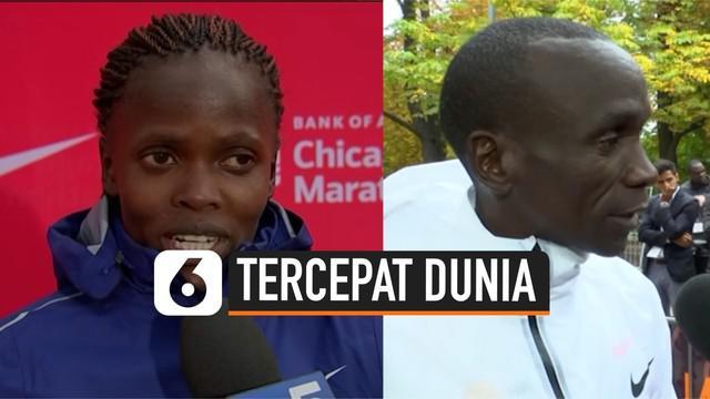 Dua pelari asal Kenya membuat sejarah baru dalam dunia atletik. Mereka adalah Eliud Kipchoge dan Brigid Kosgei.