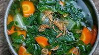 Ilustrasi sayur bening daun kelor   @bunda_didi dari Instagram