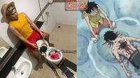 6 Cosplay Low Budget Anime One Piece Ini Kocak Banget (sumber: Instagram.com/lowcostcosplayth)