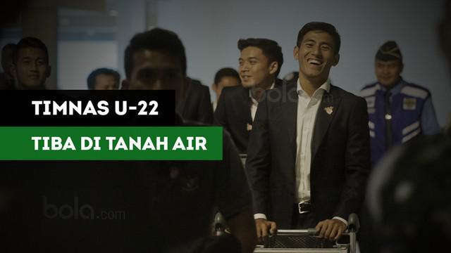 Berita video Timnas Indonesia U-22 mendapat sambutan meriah saat tiba di tanah air, Rabu (30/8/2017) malam WIB.