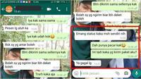 Chat kocak dari kurir (Sumber: Twitter/txtdrikurir)