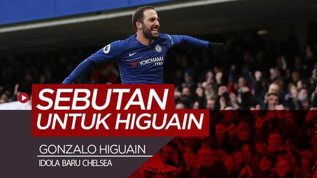 Berita video striker baru Chelsea, Gonzalo Higuain, yang memiliki beberapa sebutan untuk dirinya.