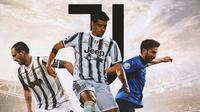 Juventus - Leonardo Bonucci, Alvaro Morata, Manuel Locatelli (Bola.com/Adreanus Titus)