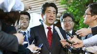 Perdana Menteri Jepang Shinzo Abe (Muneyuki Tomari/Kyodo News via AP)