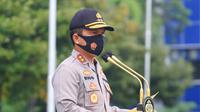Kapolda Jatim Irjen Pol Nico Afinta saat apel pergeseran personel BKO PAM TPS dalam rangka PAM pemungutan suara Pilkada Serentak 2020. (Foto: Dok Istimewa)