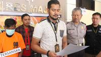 Rilis kasus video mesum di Majene, Sulawesi Barat (Fauzan/Liputan6.com)