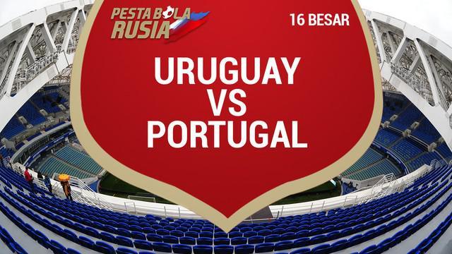Portugal menelan kekalahan saat menghadapi Uruguay di babak 16 besar Piala Dunia 2018.