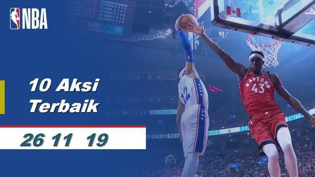 Berita Video 10 Aksi Terbaik 27 November di NBA 2019-2020