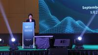 Bella Fang, Co-Founder WBFex di WBF Technology Conference 2019 di Jakarta. Liputan6.com/Keenan Pasha