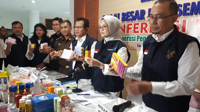 Ditemukan kosmetik ilegal senilai miliaran rupiah di Jawa Tengah. (Foto: Humas BPOM)