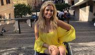 Madeline Delp, wanita berkursi roda pertama yang ikut kontes kecantikan bergengsi di Amerika Serikat. (dok.Instagram @liveboundlessgirl/https://www.instagram.com/p/B4sb-NeJYmi/Henry)