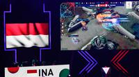 Timnas e-sport Indonesia saat melawan Filipina pada laga final Mobile Legends SEA Games 2019 di Filoil Flying V Center, Manila, Minggu (8/12). Indonesia kalah 2-3 dari Filipina. (Bola.com/M Iqbal Ichsan)