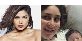 Kareena Kapoor dan Saif Ali Khan baru saja dikarunia seorang bayi laki-laki yang diberi nama Taimur Ali Khan Pataudi, yang menimbulkan komentar publik. Mengetahui hal tersebut, Priyanka Chopra pun ikut berkomentar. (doc.indiatoday)