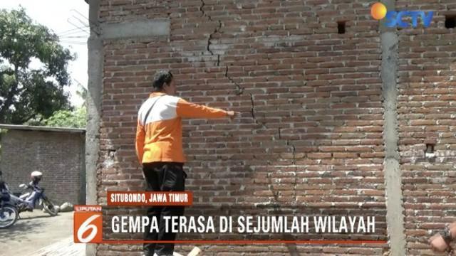 Sejumlah rumah warga di Desa Tanjung Pecin, Mangaran retak akibat gempa Situbondo 6,0 SR.