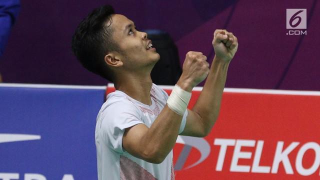 Lin Dan gagal melaju ke babak kedua China Open 2018 setelah takluk dari tunggal putra Indonesia, Anthony Sinisuka Ginting, 24-22, 5-21, 19-21, Selasa (18/9/2018).