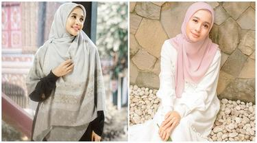 6 Potret Terbaru Laudya Cynthia Bella Kini Sering Pakai Hijab Syar'i, Tampil Beda
