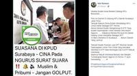 [Cek Fakta] KPUD Surabaya
