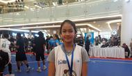 Balqis Almira Firdausi terpilih sebagai Jr NBA Indonesia All-Star 2018, yang diumumkan di Pluit Village Mall, Jakarta Utara, Minggu (29/7/2018). (Bola.com/Yus Mei Sawitri)