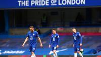 Chelsea harus menelan kekalahan 2-5 dari West Bromwich Albion pada pertandingan pekan ke-30 Premier League 2020/2021. (AFP/Clive Rose)