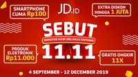Mau tau promo menguntungkan apa saja yang ditawarkan program 11.11 JD.ID bagi para pelanggan setianya?