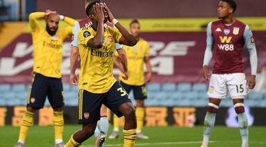 Penyerang Arsenal, Eddie Nketiah.
