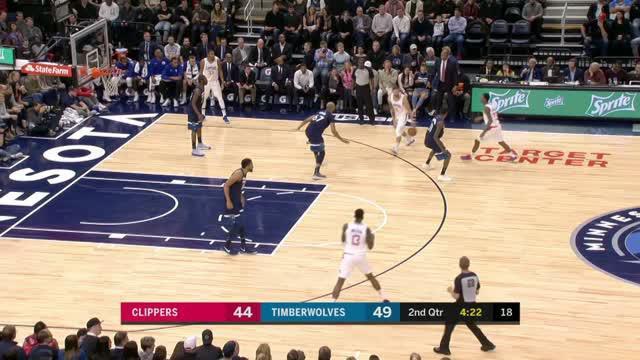 Minnesota Timberwolves berhasil mengalahkan LA Clippers dengan skor 112 vs 106 dalam lanjutan NBA 2017-2018.