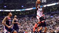 Delon Wright bermain gemilang membantu Raptors menang atas Wizards di gim pertama playoff NBA (AP)