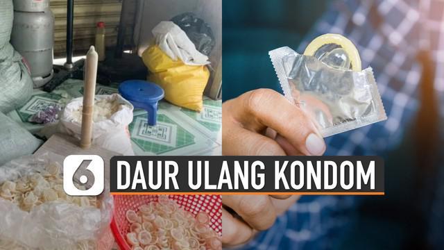 Sebanyak 324 ribu kondom bekas berbobot 360 kg diamankan.