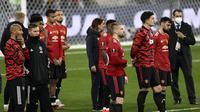Manchester United gagal menjuarai Liga Europa setelah kalah 10-11 dari Villarreal melalui babak adu penalti di Stadion Miejski, Gdansk, Polandia, Kamis (27/5/2021) dini hari WIB. (AP/Maja Hitij).