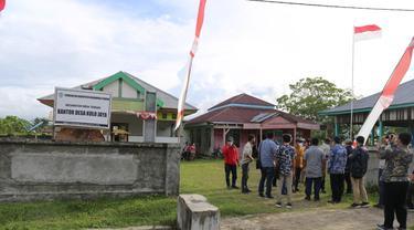 Tim Pilot Project pengembangan model perluasan kesempatan kerja berbasis kawasan tahun 2021 di kantor Kepala Desa Kulo Jaya