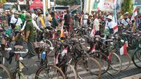 Ratusan sepeda antik lansiran 1960-an turut meramaikan Gowes Nusantara 2019 yang berlangsung di Banjarmasin (istimewa)