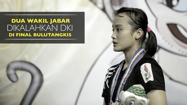 Video dua wakil Jawa Barat yang gagal meraih emas di cabor Bulutangkis PON XIX Jawa Barat 2016.