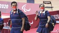 Ganda campuran Indonesia yang meraih emas di Paralimpiade Tokyo 2020, Leani Ratri Oktila/Hary Susanto. (NPC Indonesia)