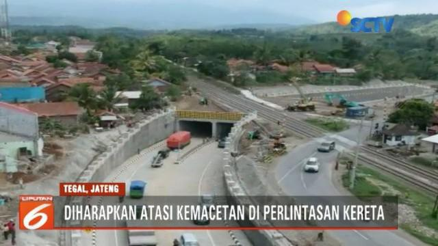 Terowongan bawah tanah Karangsawah, Brebes, akan diuji coba selama satu minggu.