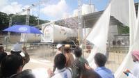 Peresmian penyimpanan dan regasifikasi di PLTG Sambera Kutai Kartanegara Kaltim.