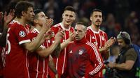 Gelandang asal Prancis, Franck Ribery, kabarnya sudah memperbaharui kontraknya di Bayern Munchen sampai 30 Juni 2019. (AFP/Odd Andersen)
