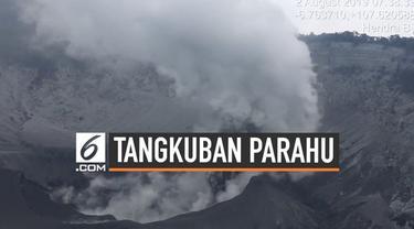 Kawah Gunung Tangkuban Parahu kembali menyemburkan abu vulkanik. Akibatnya lokasi wisata kembali ditutup untuk kunjungan masyarakat umum.
