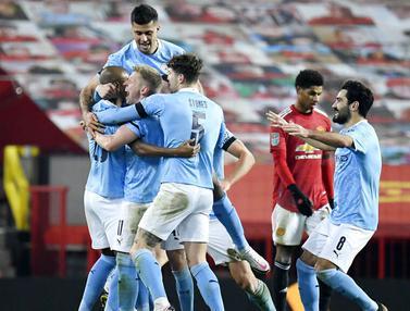 FOTO: Bungkam Manchester United, Manchester City Tantang Tottenham Hotspur di Final Piala Liga Inggris