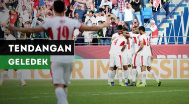 Berita video tendangan geledek yang diciptakan gelandang Yordania saat menghadapi Vietnam di babak 16 besar Piala Asia 2019.