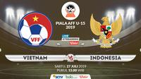 Piala AFF U-15 2019: Vietnam vs Indonesia. (Bola.com/Dody Iryawan)
