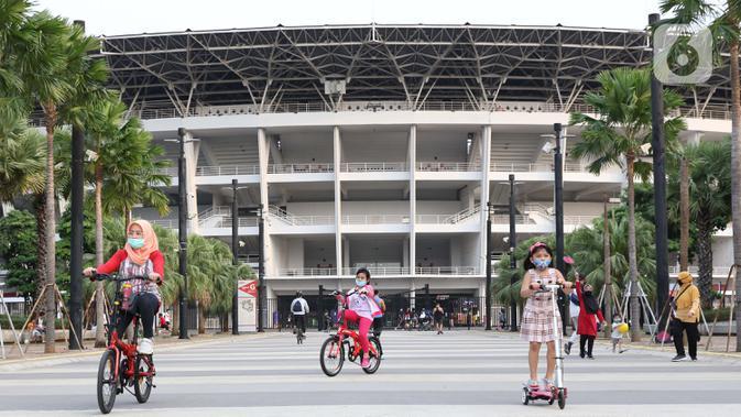 FOTO: Terapkan Protokol Kesehatan, SUGBK Kembali Dibuka Untuk Kegiatan Olahraga