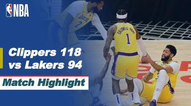 Berita video highlight NBA, La Clippers Kembali Kalahkan La Lakers 118-94, Jumat (7/5/2021).
