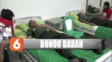 Kongdam XVI Pattimura menggelar donor darah untuk membantu korban gempa Ambon.