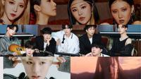 Ilustrasi K-Pop comeback November 2020. (RBW, Big Hit Entertainment, SM Entertainment, Maroo Entertainment  via Soompi)