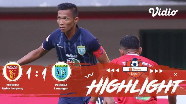 Pertandingan #ShopeeLiga1, antara #PerseruBadakLampung vs #PerselaLamongan yang berlangsung di Stadion PatriotPatriot Chandrabhaga...