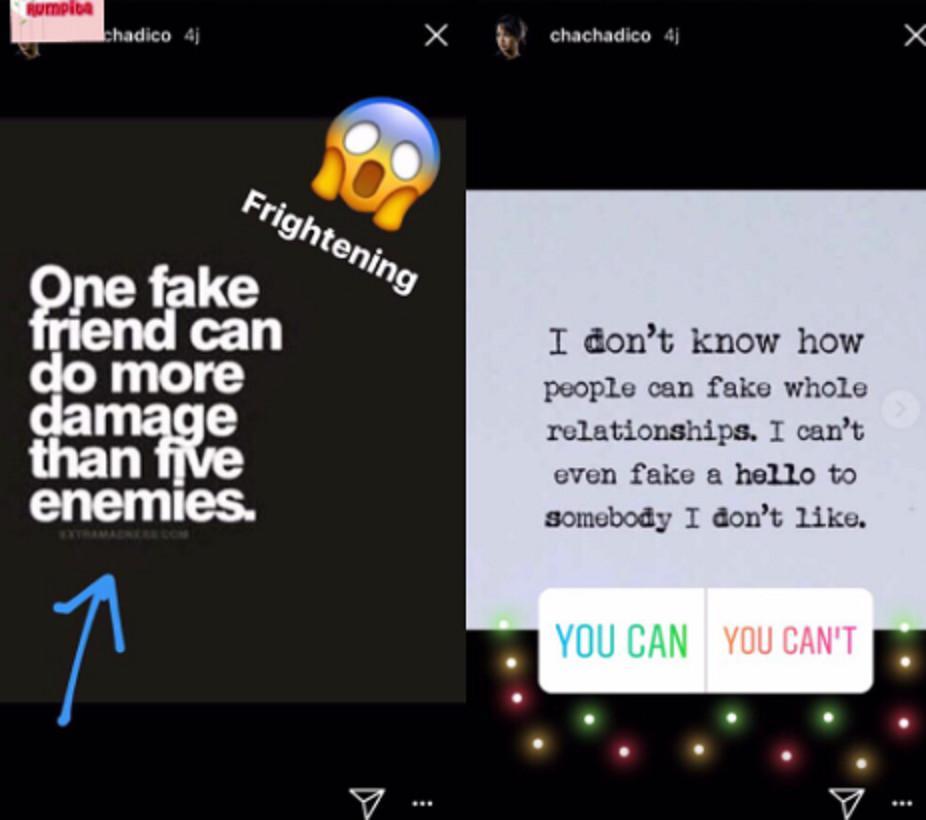 Postingan Chacha Frederica yang disebut menyindir salah satu anggota Girls Squad. (Instagram/makrumpita)