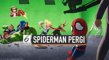 Semenjak pengumuman kepergian Spiderman dari Marvel Cinematic Universe, banyak penggemar yang mengekspresikannya lewat berbagai cara. Seperti salah satu seniman asal Los Angeles, yang menunjukkan lewat karya ilustrasinya.